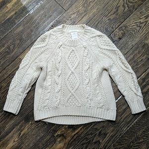 Zara Cableknit Fancy Connection Sweater
